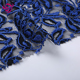 high quality embroidery polyester nylon spandex fancy royal blue lace dress fabric