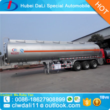 40Tons 47cbm Fuel Tanker Trailer Tri-axles FUWA Coupled Trucks Carbon Steel Fuel Tank Trailer for sale