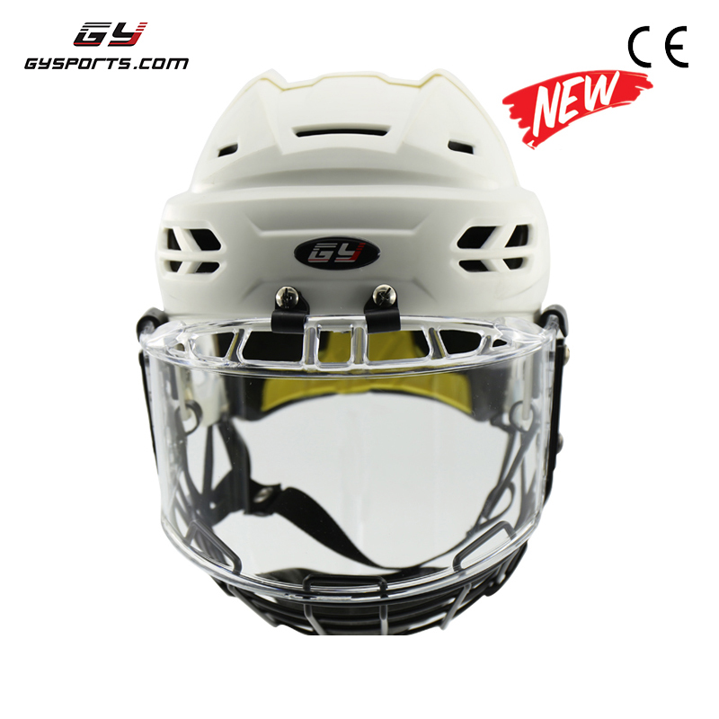 GY SPORTS PP Shell Ice Skating Helmet /Ice Hockey Helmet With Steel Cage