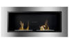 Wall mounted stainless steel bio ethanol fireplace FD30 with 2 burners
