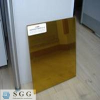 High quality 24k golden reflective glass