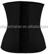 Black color corset open hot women sexy body by Latex Waist Trainer Cincher Shaper