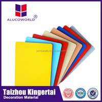 Alucoworld Kynar 500 4mm exterior facade aluminium composite panel for kitchen cabinets