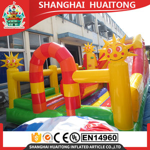 2017 outdoor kids /adults bouncy castle inflatable fun city cartoon golden sun jumping bouncy house inflatable bouncer