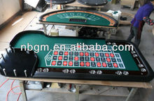 96 Inch Deluxe Poker Table With Roulette Wheel