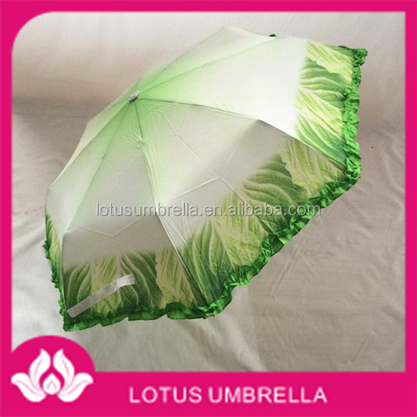 Chinese cabbage shape creative personality hand open umbrella