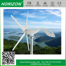300W micro wind generator,speed 13.0M/S mini wind power generator 3/5pcs blades residential wind turbine