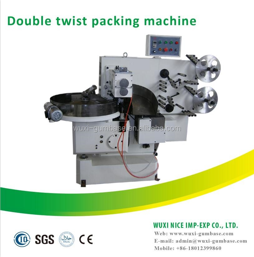 Automatic double twist lollipop /hard candy packing machine