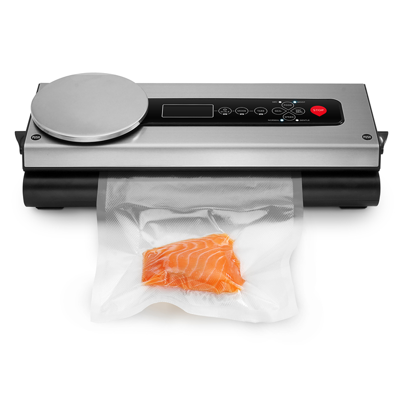 Zencro Innovative Patented Portable Vacuum Sealing System Kitchen Scale Food Packaging Plastic Bag Vacuum Sealer
