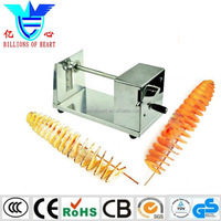 lowest price stainless steel twisted potato slicer,tornado potato chip machine,manual spiral potato cutter