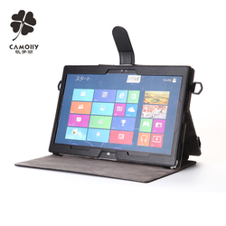 leather tablet cover case for ipad air 1/2/3/pro for surface pro with stand and shoulder belt