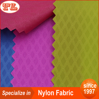 Wholesale 210D third line prismatic ripstop nylon oxford fabric with PU coated