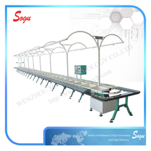 Xu0009 Rotary Type Shoe Upper Making Stitching Production Line Conveyor