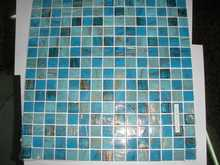 Swimming Pool Wall Floor Mosaic Ceramic Tile Blue Color Grown Color Grey Color Mosaic Stone Net Paste Paper Paste