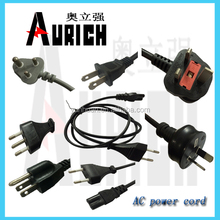 UL 125v Standard Available PVC Power Cables SASO Plug Cord