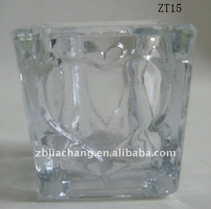 Glass Metro candle holder and glass candle jar