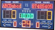 High quality digital sports display with shot clock