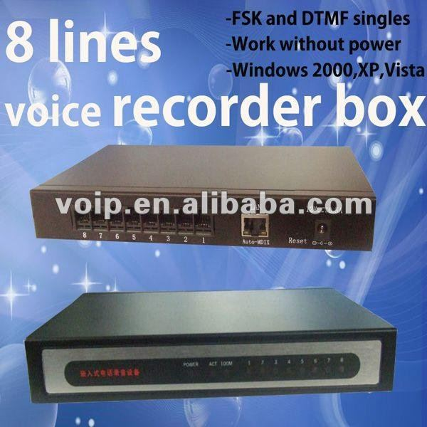 High quality 8 line voice recorder digital video recorder usb call recorder