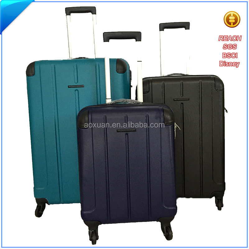 Men and women black ABS spinner hard travel trolley luggage bags cases