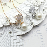 Korean Fashion Jewelries Pearl Pendant Necklace