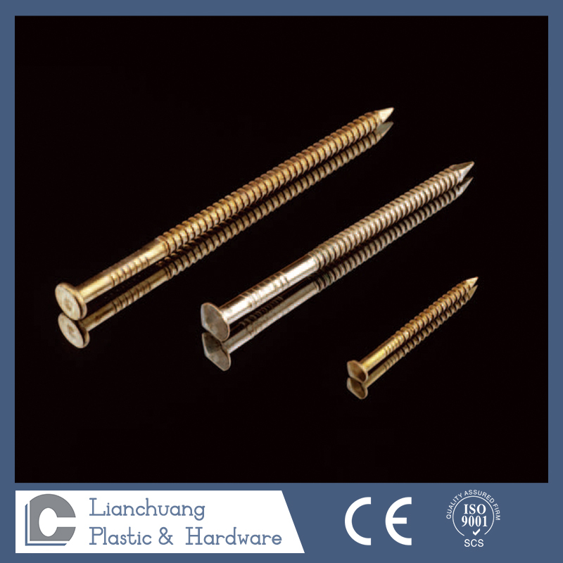 flat head ring shank silicon bronze nail