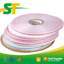 Custom Printed Bopp Strong Adhesive Red line Bag Sealing Tape