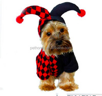 wholesale clown cosplay pet cat dog apparel for halloween