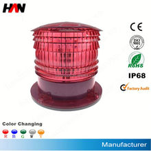 Solar powered aviation obstruction lantern/solar warning marking lantern/solar obstruction lantern