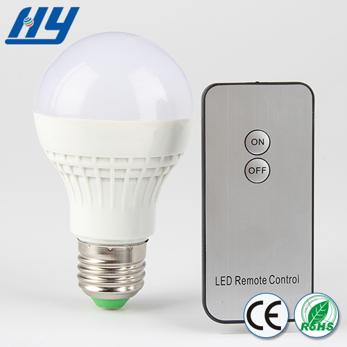 Infrared remote control CCC CE ROHS products remote control led bulb light,5w intelligent led bulb light