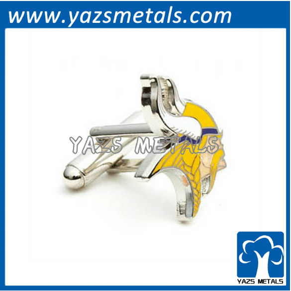customiz designer cufflinks, custom made minnesota vikings cufflink