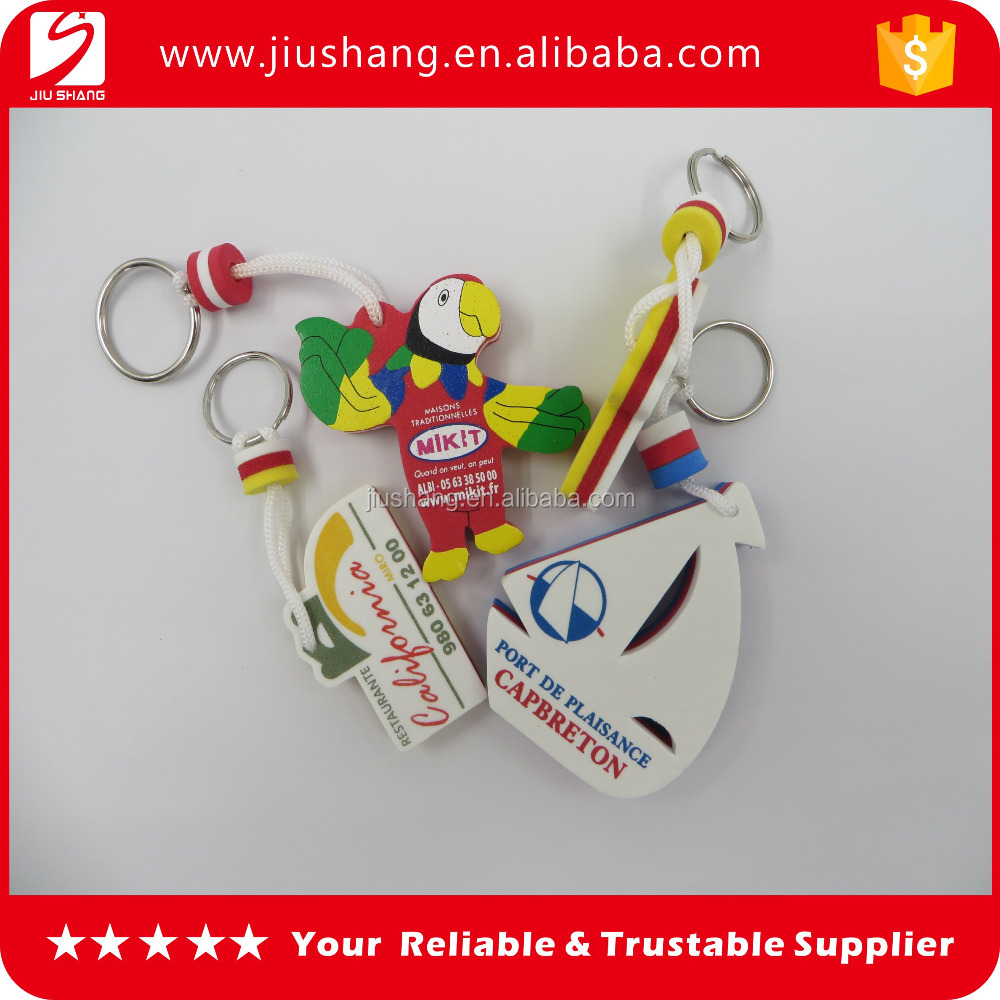 New popular design eva key rings key fob wholesales