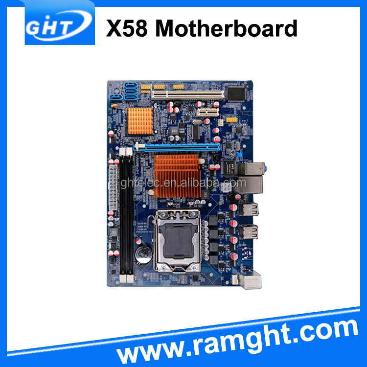 Fast delivery dual channel x58 non integrated ddr3 motherboard 1366