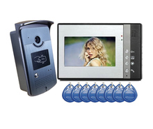 7 inch Color Video Door phone with RFID keyfobs, Intercom System with IR Night Vision,Night Vision Home Security Camera