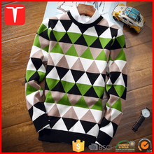 Men geometric knitting pattern argyle sweater