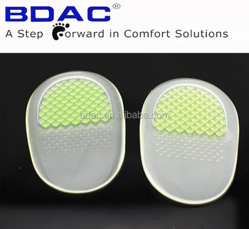 self-adhesive PU gel massage heel cushion as heel insole