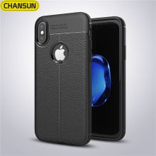 Luxury lychee leather skin case for iphone x, shockproof new TPU case for iphone X