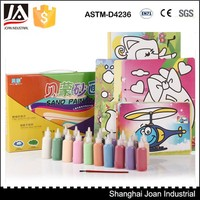 Colorful kids sand painting art, sand painting cards