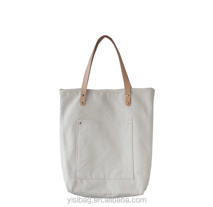 Canvas Tote Bag Leather Handle - Buy Canvas Tote Bag Leather ...