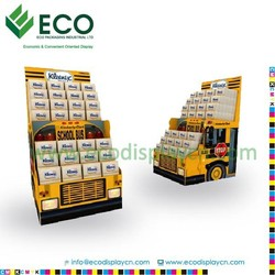 Corrugated board dvd countertop displays, dvd display case, dvd point of sale displays