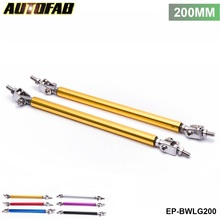 AUTOFAB -2Pcs/SET 200mm Universal Racing Front Bumper Lip Splitter Rod Strut Tie Bar Support Kit Bumpers EP-BWLG200