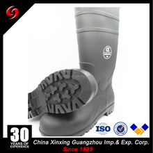 2016 High quality black mining working safety boots waterproof safety boot sale