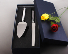 Wedding Cake tools crystal wedding cake server set Stainless Steel Wedding Party Cake Knife and Server Set in clear drill