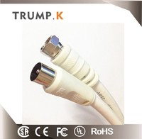 High voltage thin coaxial cable