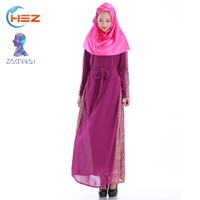 Zakiyyah 60014 2017 Dubai Import Perfume Dress Wholesaler Made In Chiffon Plus Size Baju Kurung With Belt