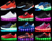 men women led color flashing rainbow sneakers