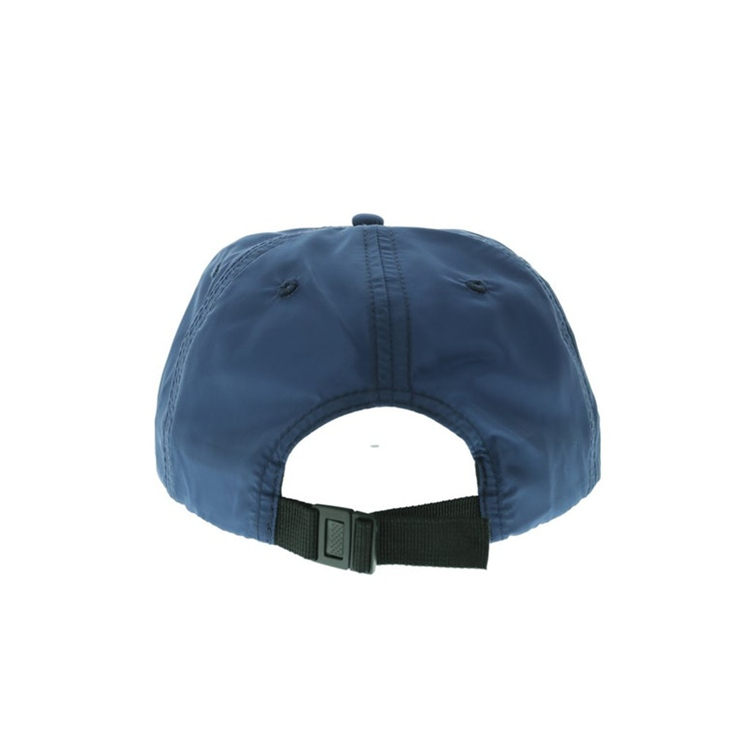 Custom unisex Better Fabric Navy Blue Unstructured 5 Panel Distressed nylon Dad Hat snapback cap for men women