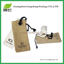 Factory price promotional white cotton drawstring bag with personal logo