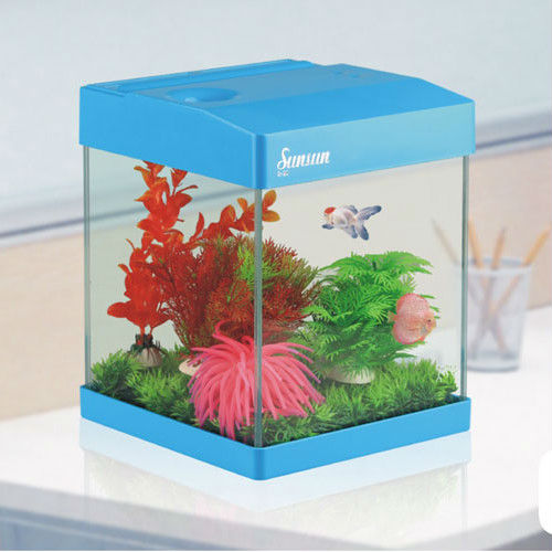 2013 New style colorful fish tank mini aquarium with lamp and filter