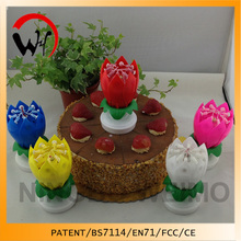 walmart spinning musical birthday candle flower