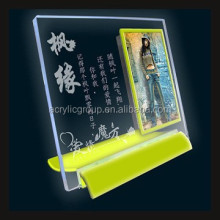 Custom Crystal Craft Home Decoration Shadow Photo Frames With Writing